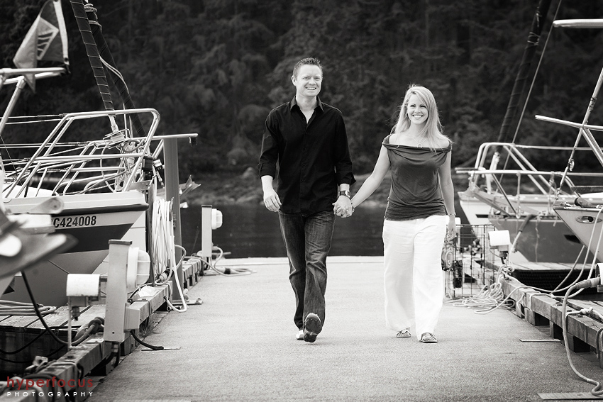 deep cove engagement photo session