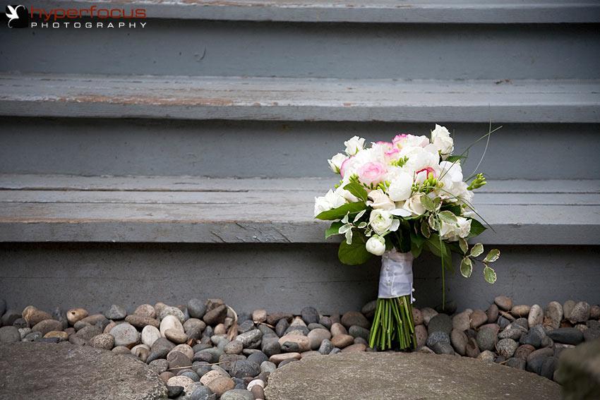 vancouver bridal bouquet pink white
