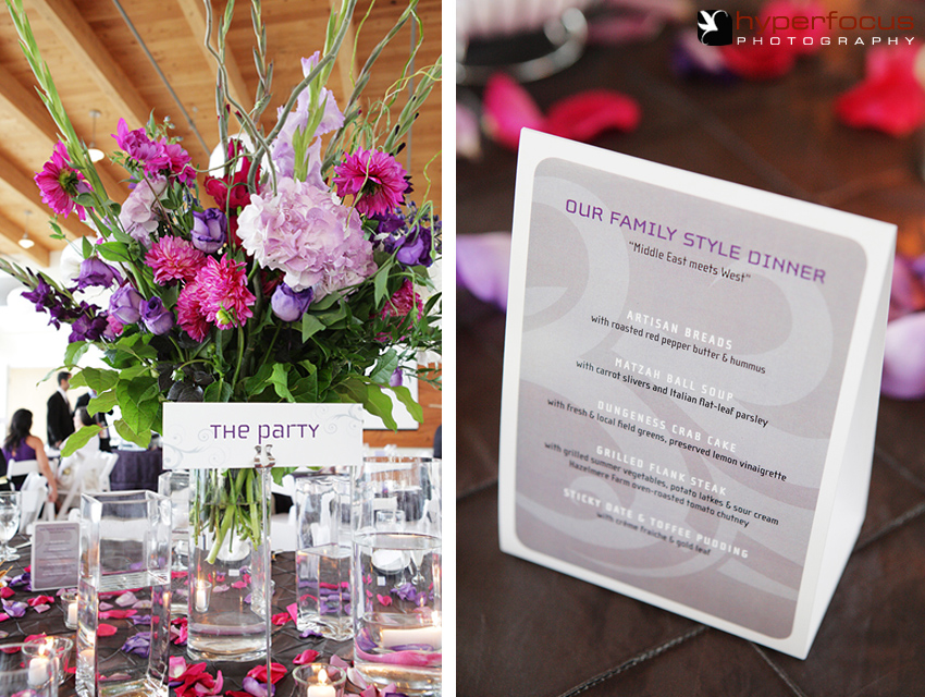 purple wedding theme reception vancouver