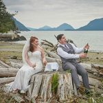 wedding on the beach at Furry Creek in Squamish