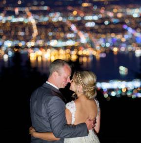 grouse mountain wedding night photography
