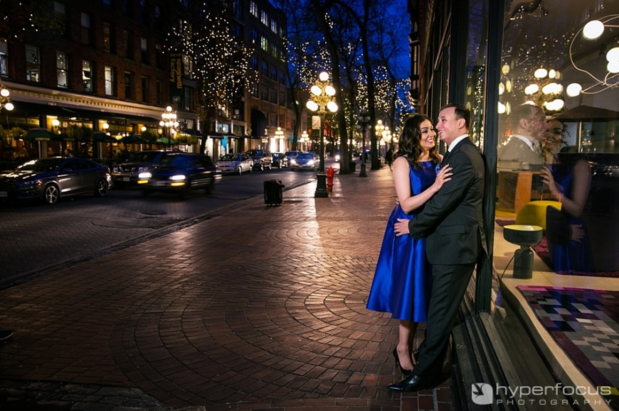 vancouver engagement photo session gastown
