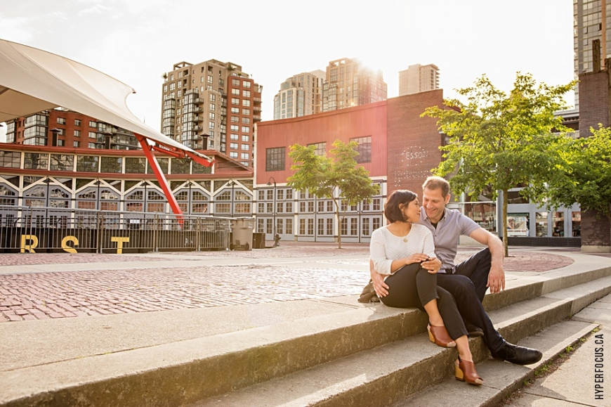 yaletown engagement photo session roundhouse