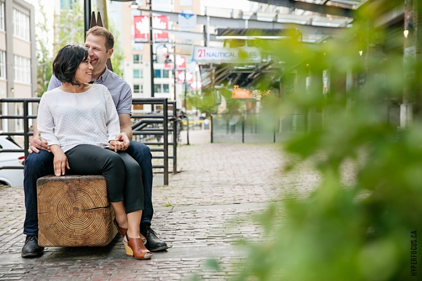 yaletown engagement photo session