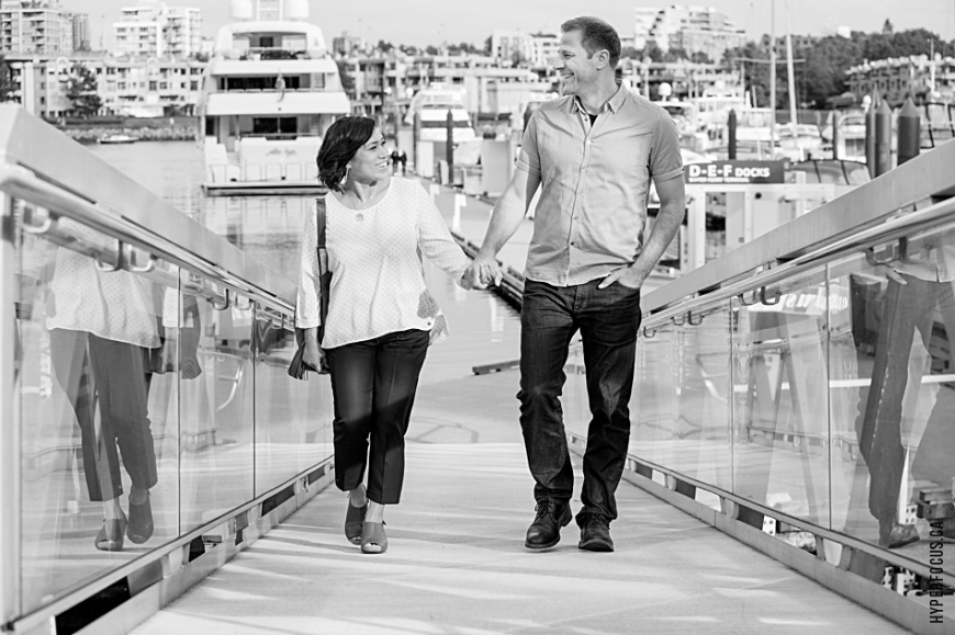 yaletown engagement photo session marina