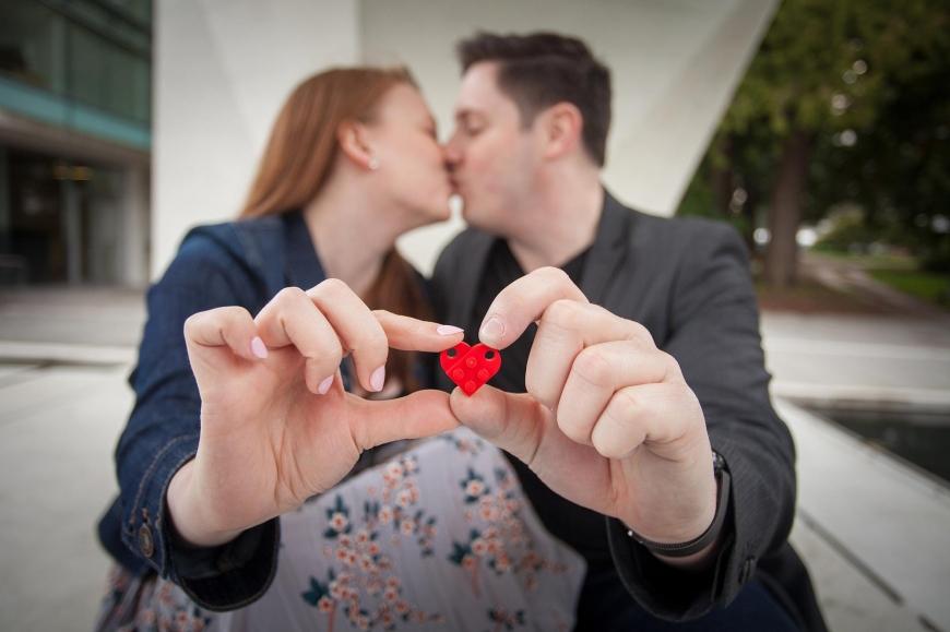 lego lovers engaged