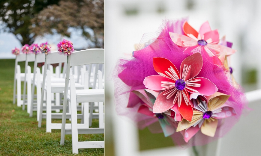 Paper Flower decor Vancouver Brock House Wedding